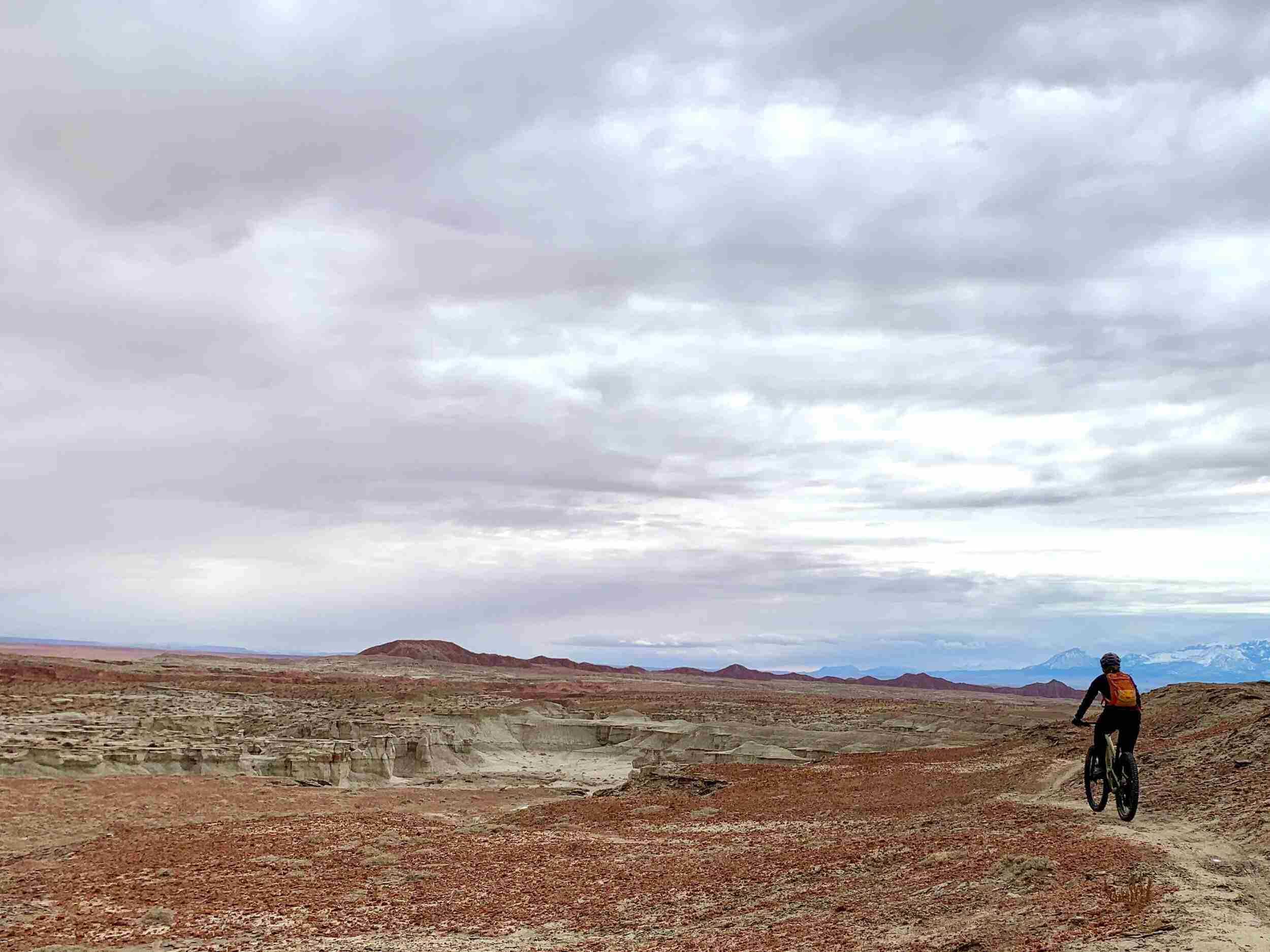Learn all about Goblin Valley mountain biking here including best time of year to visit, which loops to choose, what to expect, and more!